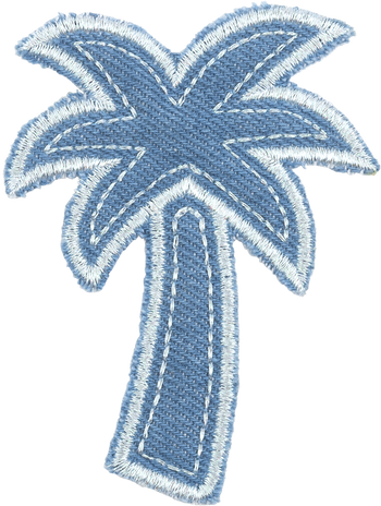 Blue Jean Palm Tree Patch
