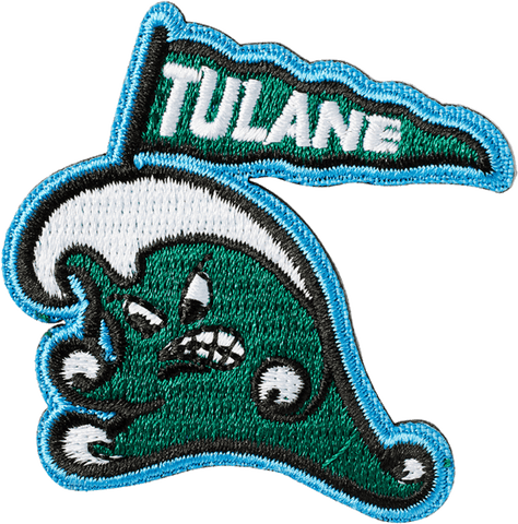 Tulane Wave With Flag Sticker Patch