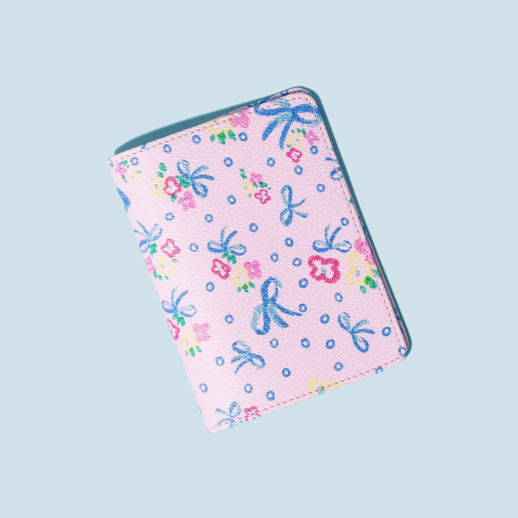 LoveShackFancy x Stoney Clover Lane Baby Bell Pink Textured Passport Case