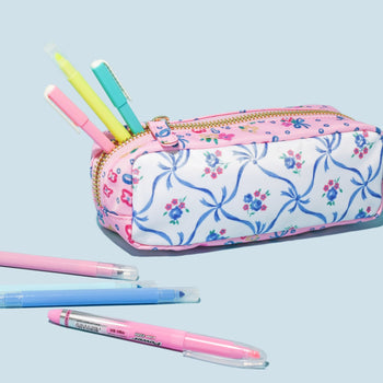 LoveShackFancy x Stoney Clover Lane Blue Ribbon Pencil Case