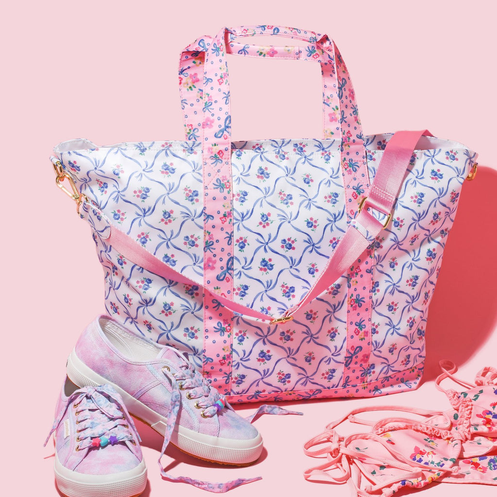 LoveShackFancy x Stoney Clover Lane Blue Ribbon Tote Bag