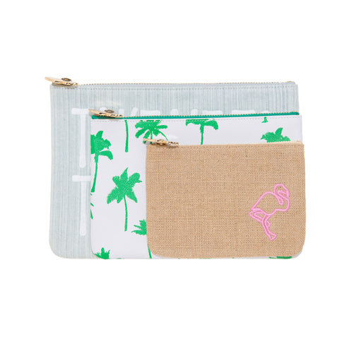 Beach 3 Piece Pouch Set