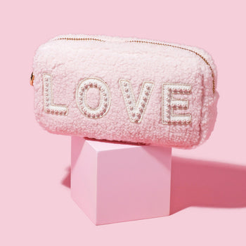 Rose Cozy Small 'Love' Pouch