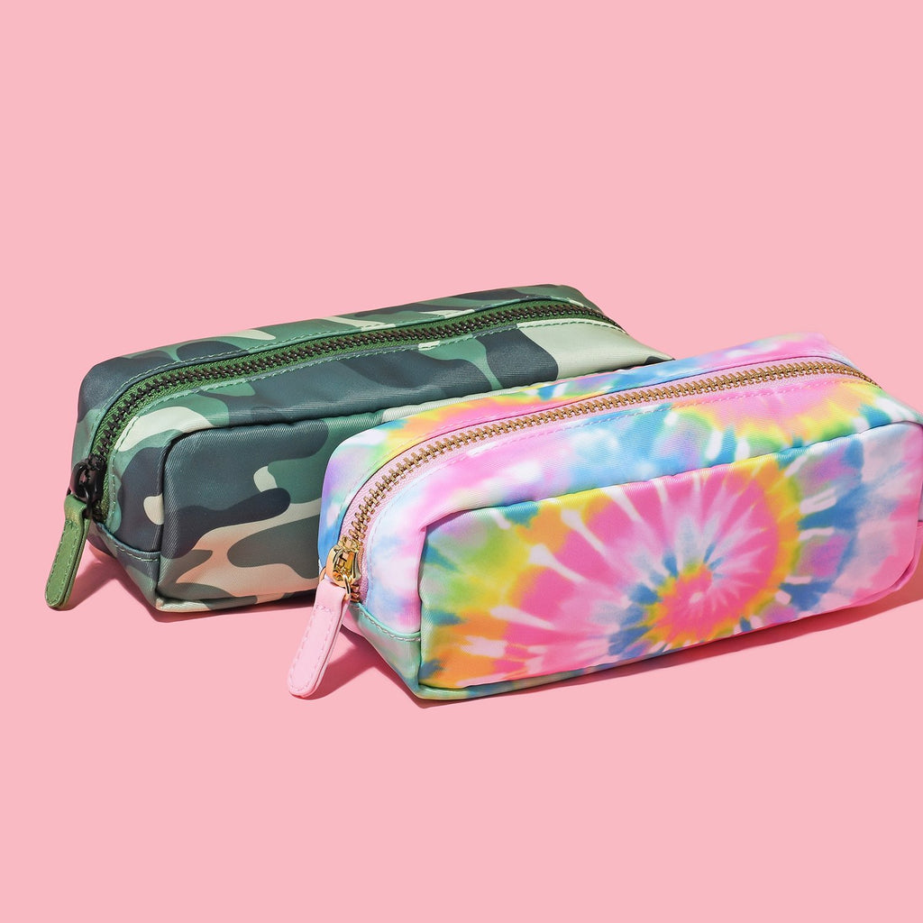 Pencil Case in Tie Dye and Camo
