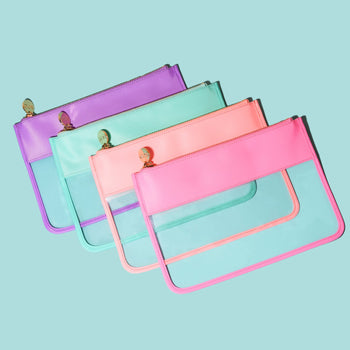 Tropical Clear Flat Pouch