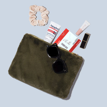 Cozy Evergreen Flat Pouch