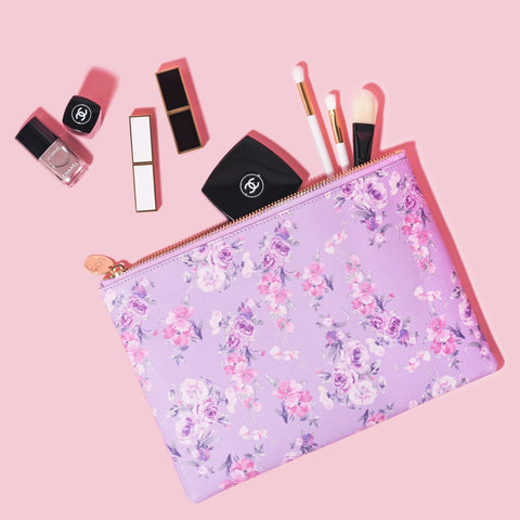 LoveShackFancy x Stoney Clover Lane Hibiscus Flat Pouch