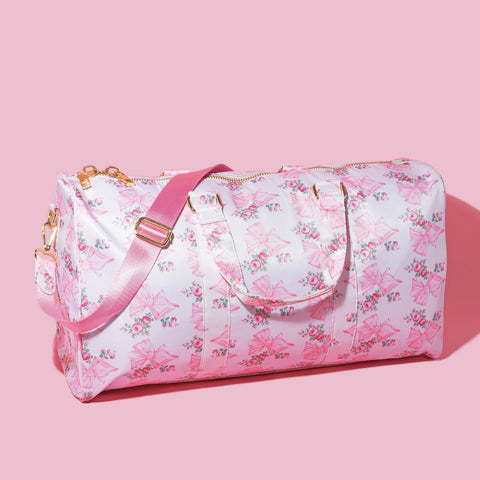 LoveShackFancy x Stoney Clover Lane Pink Mint Duffle Bag