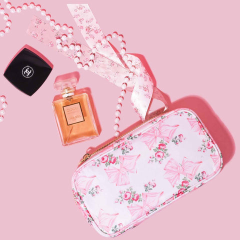 LoveShackFancy x Stoney Clover Lane Pink Mint Small Pouch