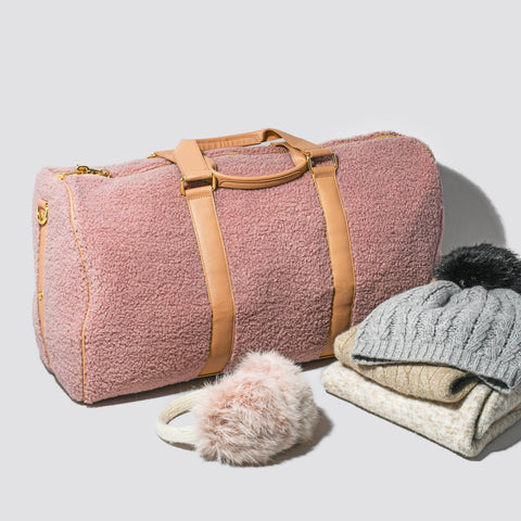 Cozy Mauve Duffle Bag