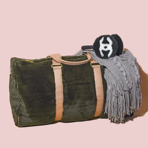 Cozy Evergreen Duffle Bag