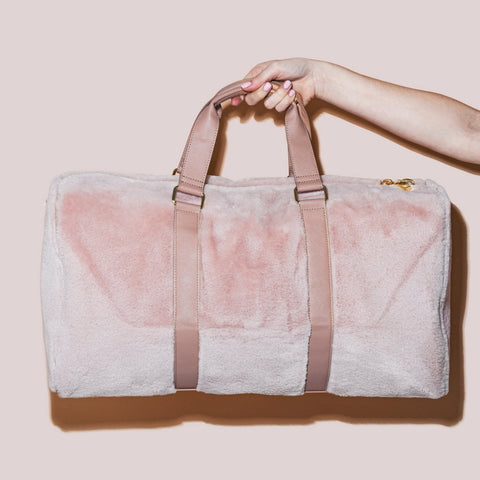 Cozy Dusty Rose Duffle Bag