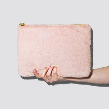 Cozy Dusty Rose Flat Pouch