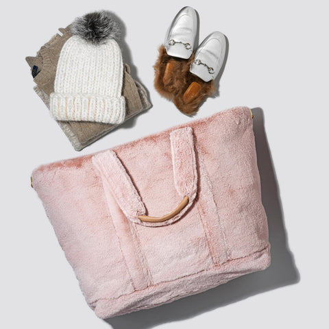 Cozy Dusty Rose Tote Bag