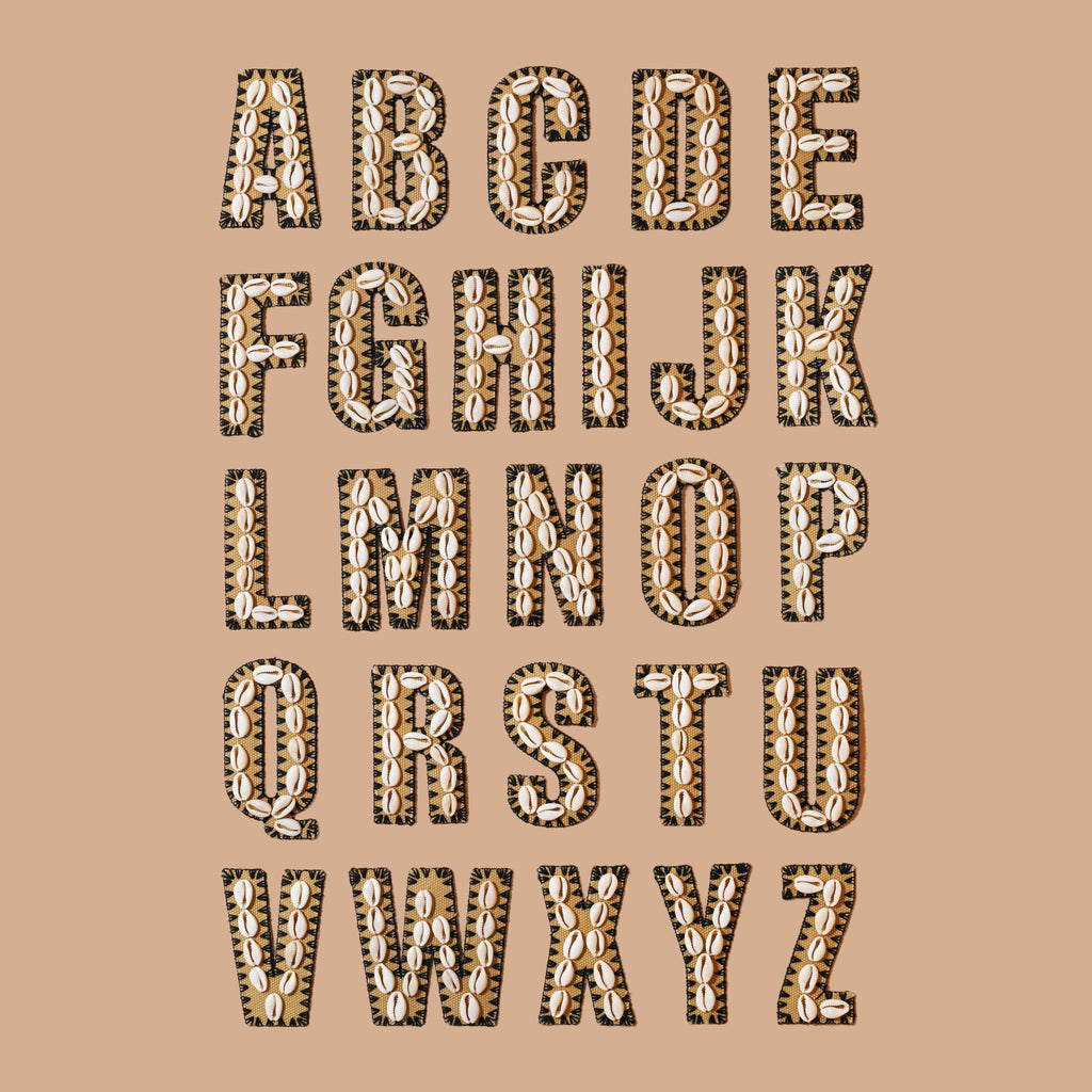Natural Noir Shell Letters