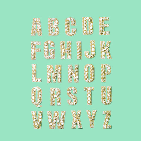 Natural Blanc Shell Letters