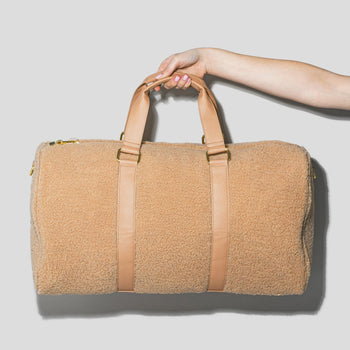 Cozy Hazelnut Duffle Bag