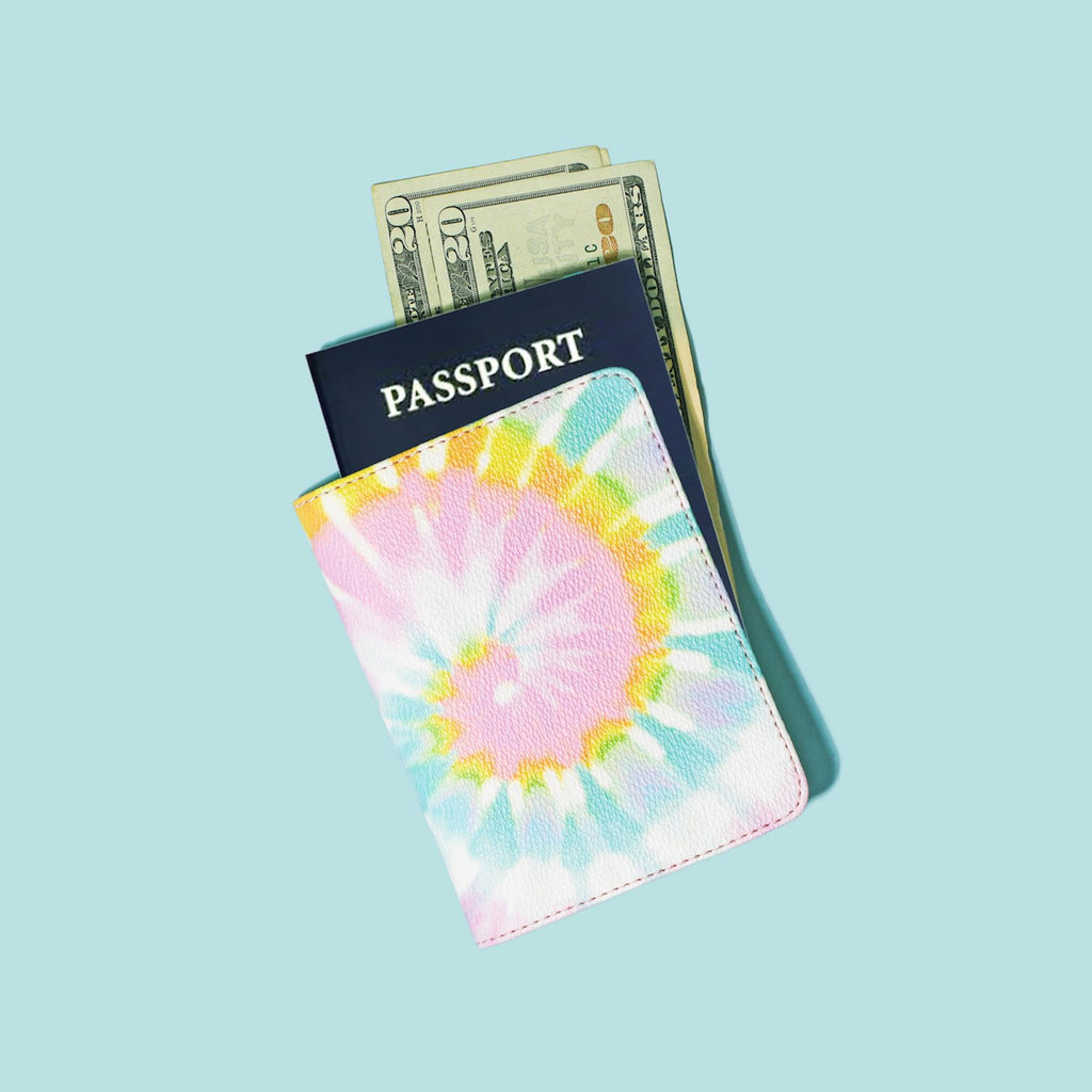 Textured Tie Dye Passport Case