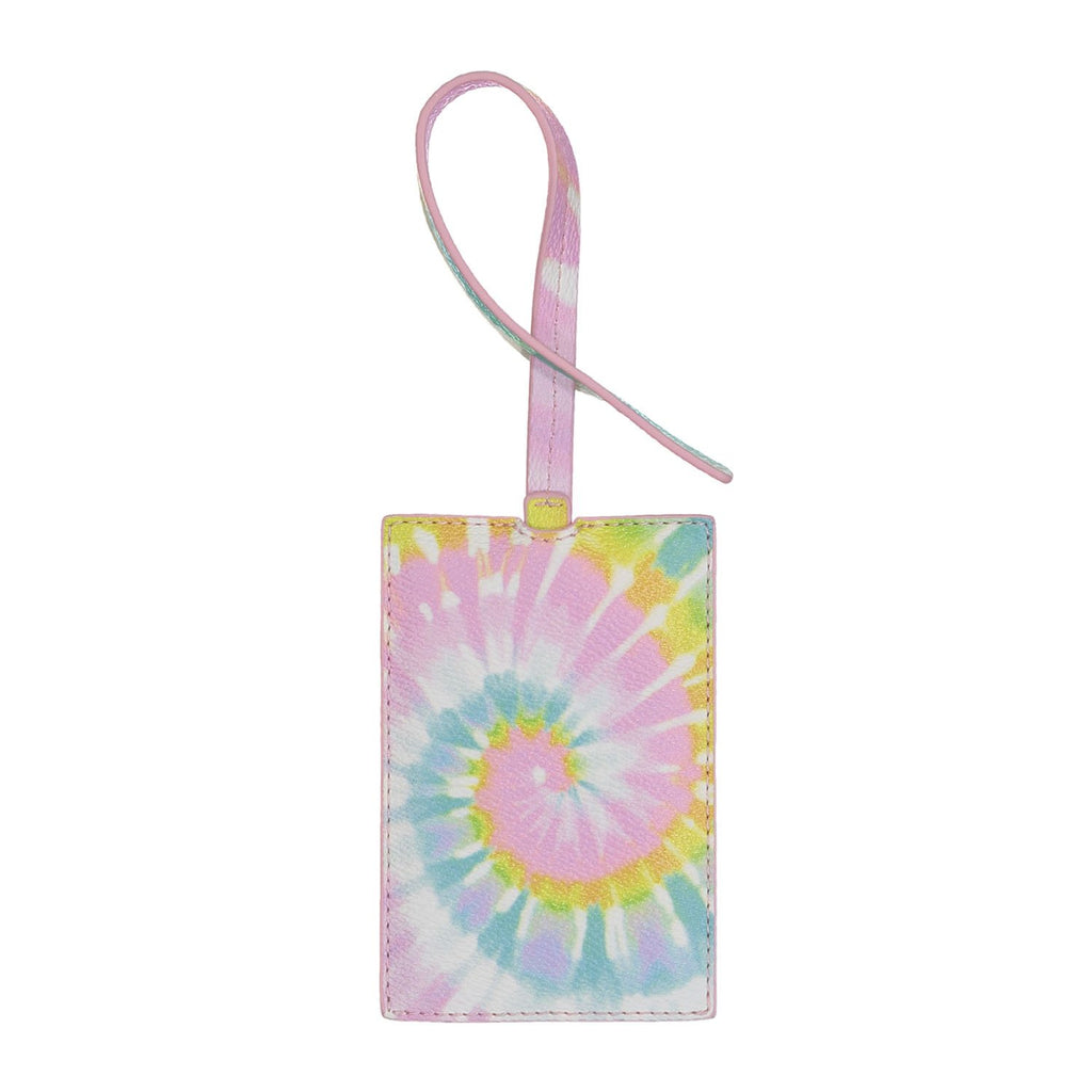 Textured Tie Dye Luggage Tag
