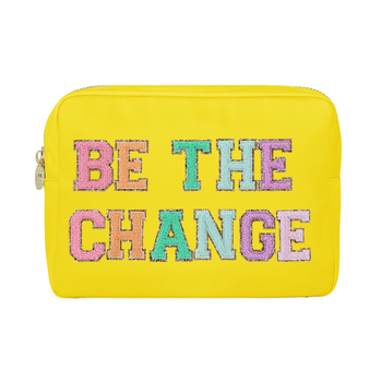 "Lemon ""Be the Change"" Large Pouch"