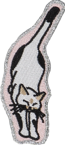 Stretching Cat Sticker Patch