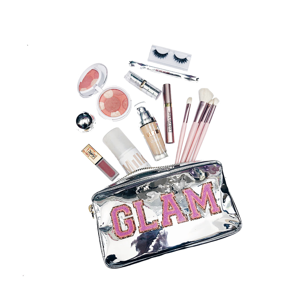 Glam Silver Patent Small Pouch