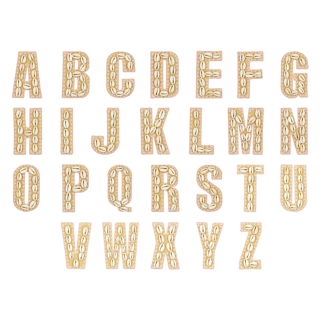 Natural Flamingo Shell Letters