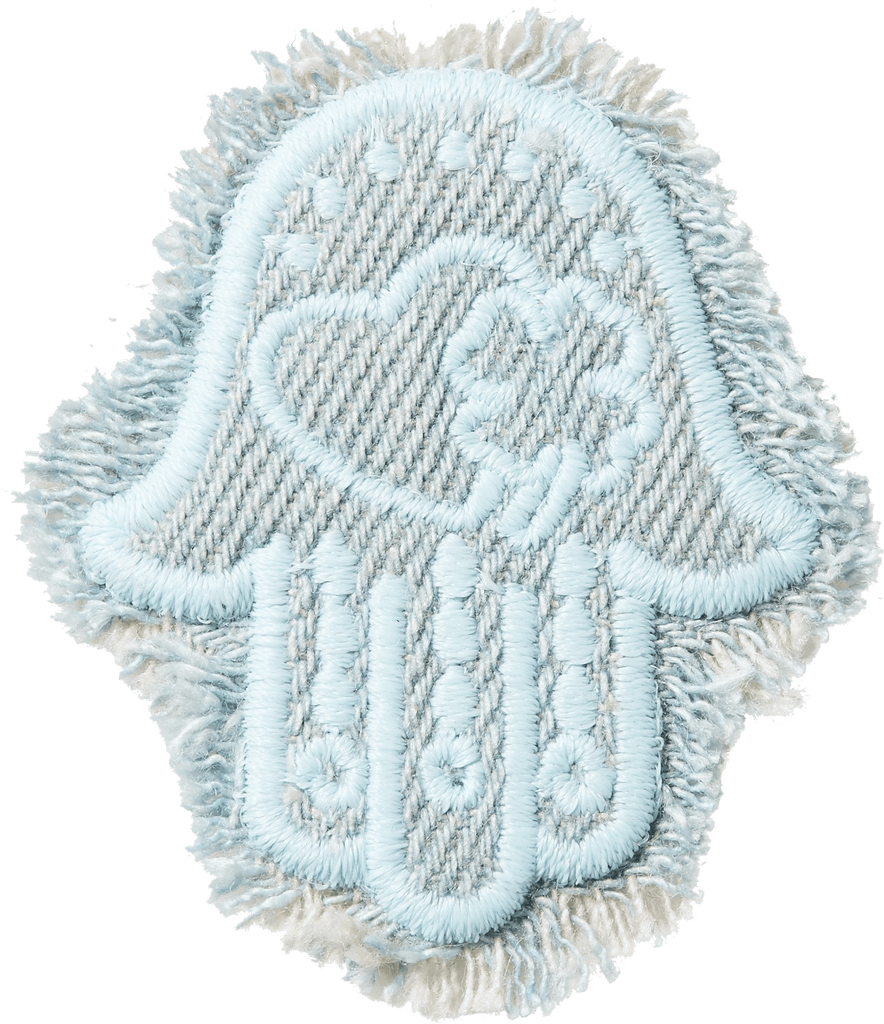 Hamsa Frayed Denim Patch