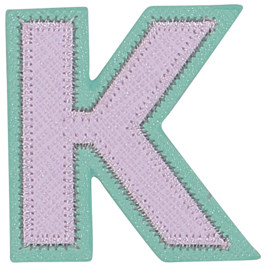 Pastel Block Letter Patches