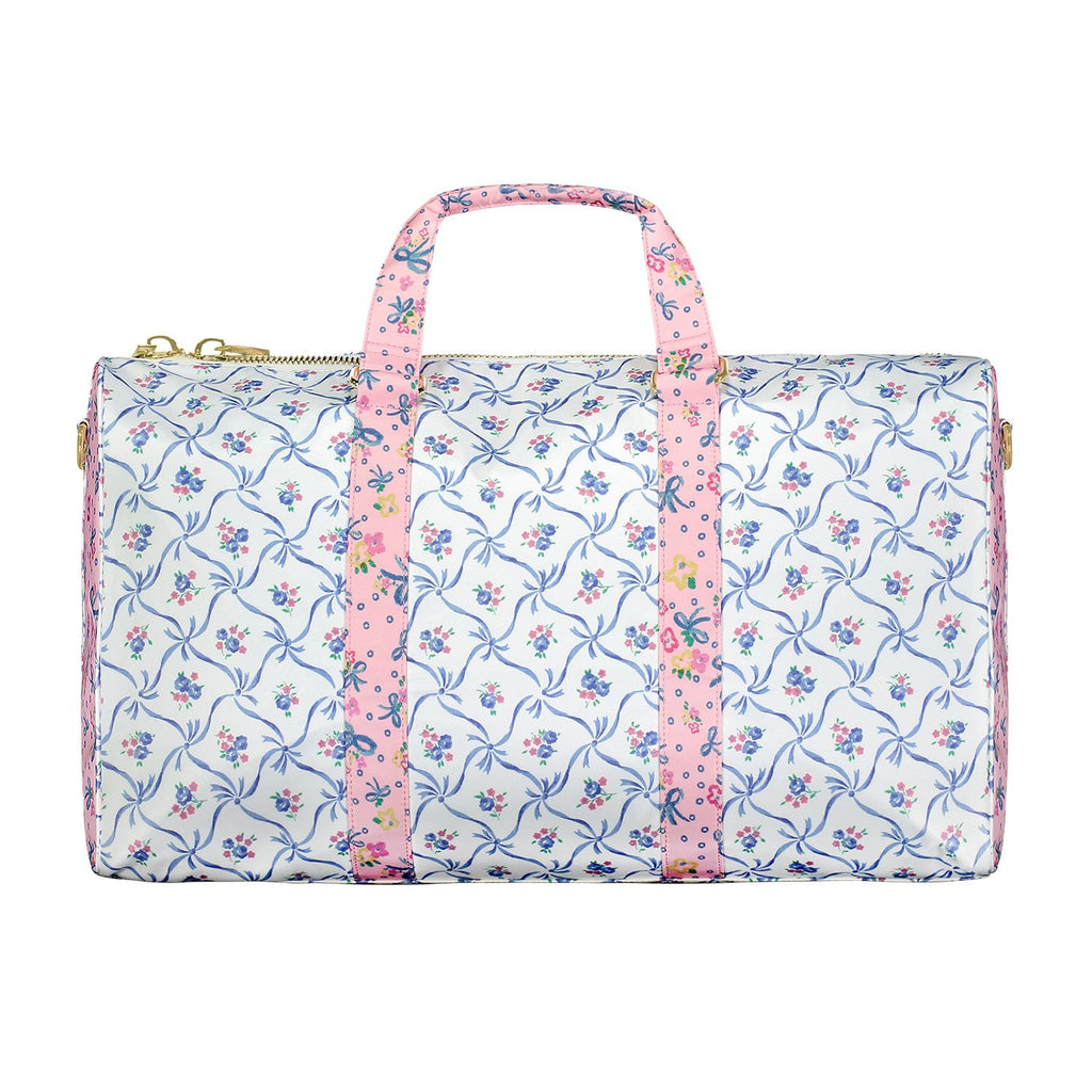 LoveShackFancy x Stoney Clover Lane Blue Ribbon Duffle Bag