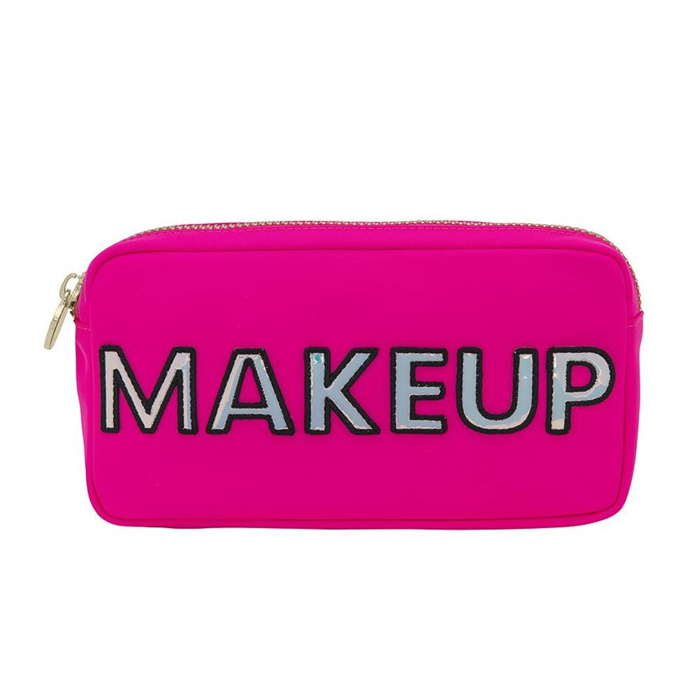 Neon Pink Makeup Pouch