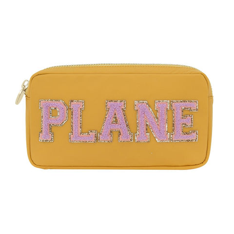 Plane Small Nylon Pouch