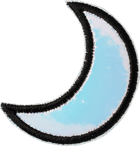Puffy Iridescent Moon Patch