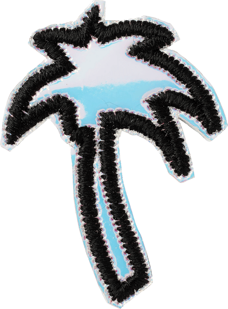Puffy Iridescent Palm Tree Patch