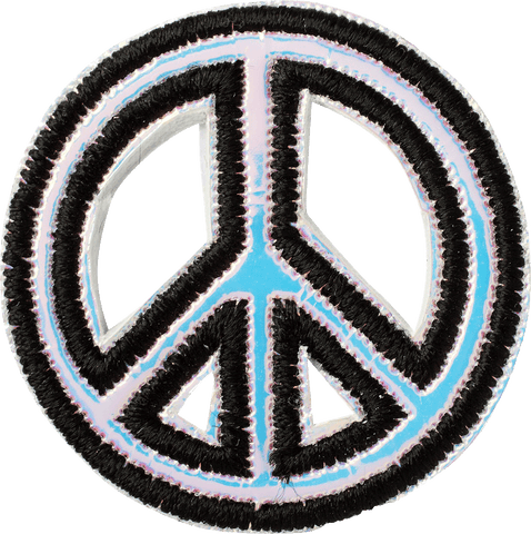 Puffy Iridescent Peace Sign Patch