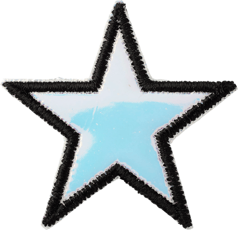 Puffy Iridescent Star Patch