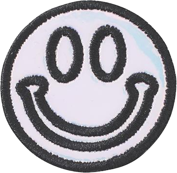 Puffy Iridescent Smiley Face Patch