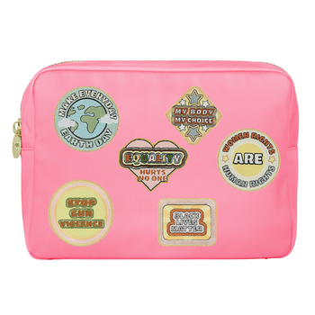 Guava Large Pouch with Social Issue Patches