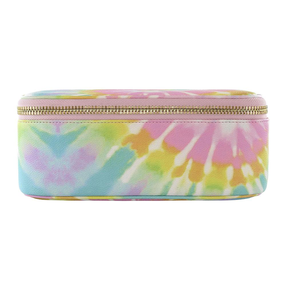 Textured Tie Dye Open Top Mirror Pouch