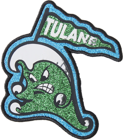 Tulane Wave With Flag Jumbo Patch