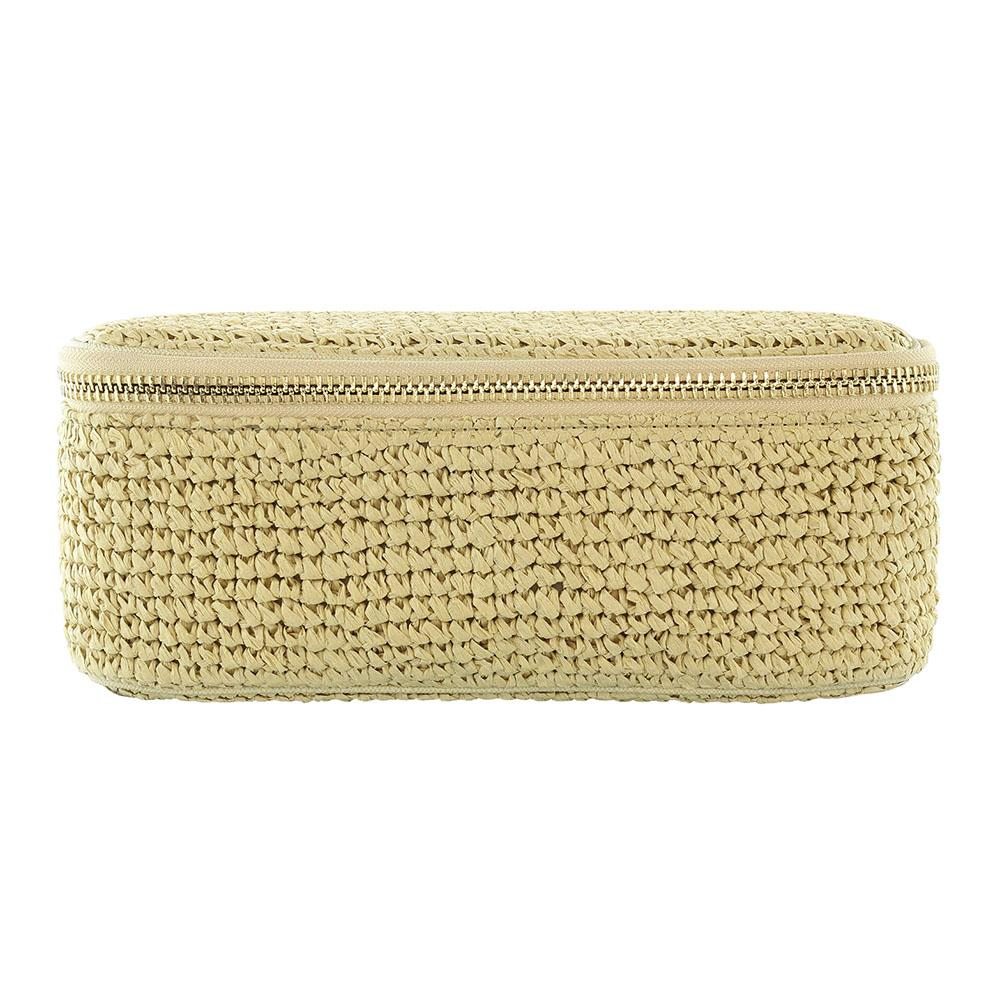 Woven Open Top Mirror Pouch