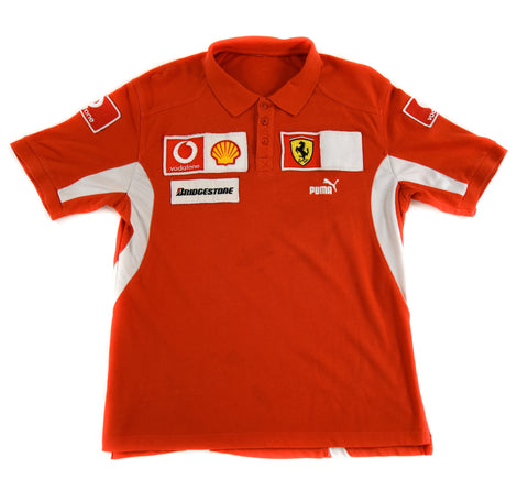 FERRARI PUMA POLO SHIRT - ADULT M