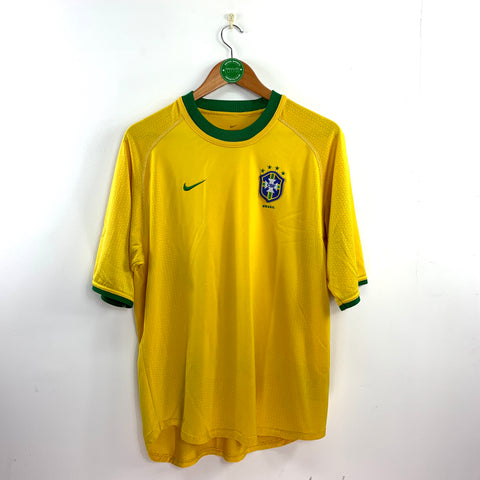 2000/02 Brazil Nike Home Shirt - Adult L