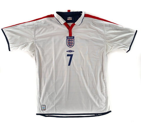 2003-05 England Home Beckham - Adult XL