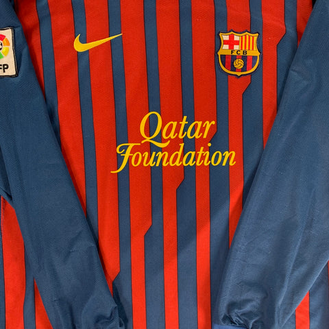 2011-12 BARCELONA LS HOME SHIRT NIKE - ADULT  XL