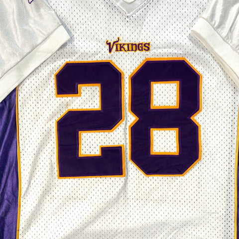 MINNESOTA VIKINGS REEBOK #28 PETERSON WHITE - ADULT LARGE
