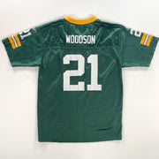 NFL GREEN BAY PACKERS REEBOK #21 WOODSON LADIES/BOYS XL