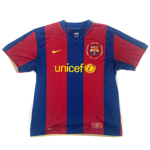 2007-08 BARCELONA HOME SHIRT - ADULT XL