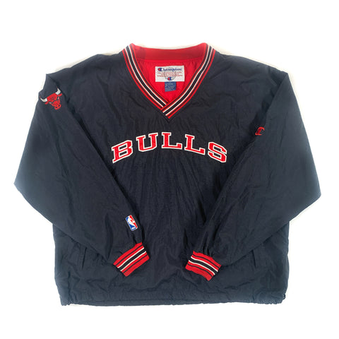 CHICAGO BULLS CHAMPION PULLOVER JACKET - ADULT XXL