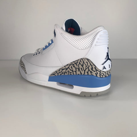 AIR JORDAN 3 UNC  VALOR BLUE - UK SZ10